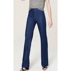 Loft trouser pants in mid indigo wash